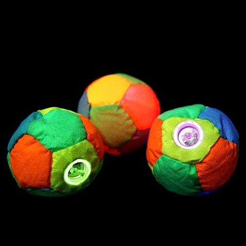 Juggle-Light 12-Panel LED Footbag - 'Multi-Light'