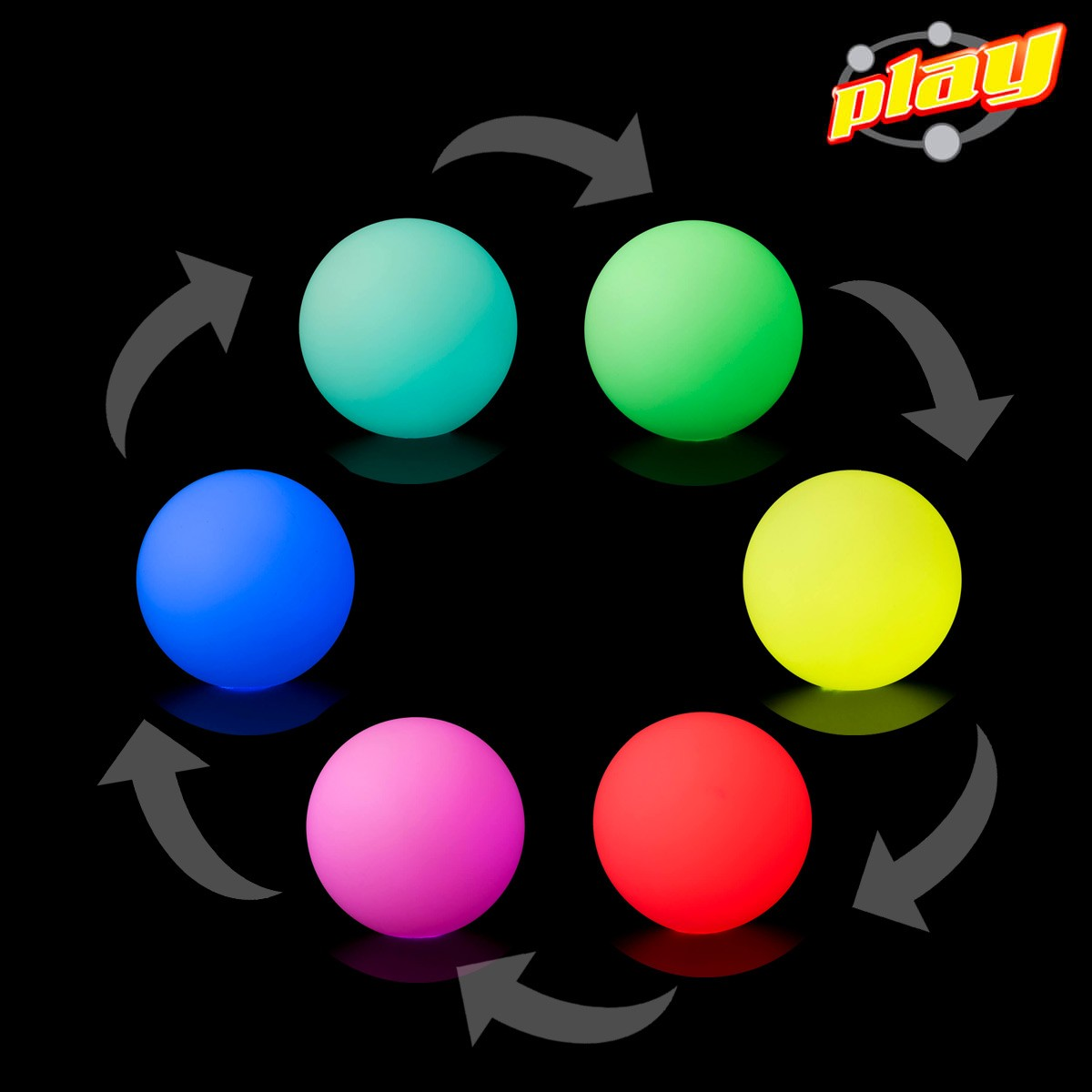 play led poi fade